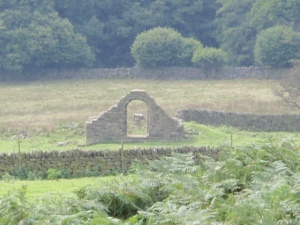 doorway in a field